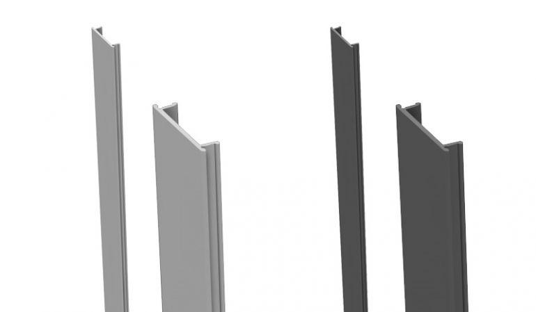 Die Alu Pfostenleisten zum Verdecken nicht genutzter Nuten an Pfosten - in den Längen 100/190 cm erhältlich - passend zur Pfostenfarbe
