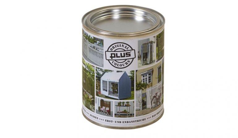 Unsere wasserabweisende, UV-beständige Holzfarbe ist in verschiedenen Farben erhältlich. Der Inhalt umfasst 0,75 Liter.