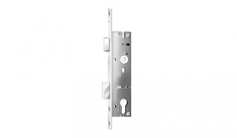 Einsteckschloss passend zum Schlosskasten unser WPC Türen, vorbereitet für Profilzylinder