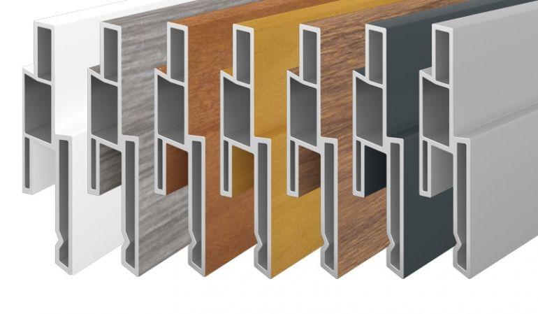 Die Dekorleisten sind in 7 verschiedenen Farben erhältlich. Hergestellt aus UV-beständigem PVC-Kunststoff