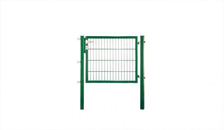 Doppelstabmatten Gartentür Eco in Grün (RAL 6005) mit 40 x 40 mm Rahmen für 6/5/6 mm Gitterzäune