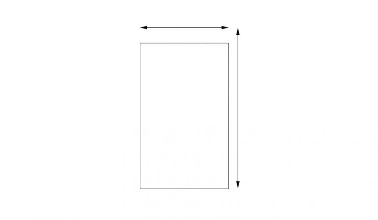 Glaselemente aus 8 mm ESG in individuellen Maßen, Klarglas, rechteckig