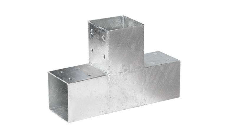 305 x 200 x 90 mm Holzverbinder für 9 x 9 cm Balken  aus 2 mm verzinktem Stahl