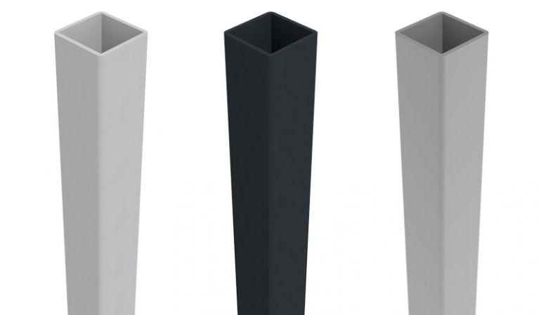Unsere Universal Pfosten sind in den Farben EV1, Silbergrau und Anthrazitgrau erhältlich. Die Längen sind 100, 150, 190 und 240 cm.
