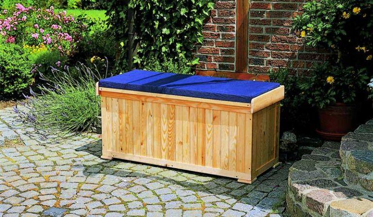 """Die Kissenbox mit Bank """"Poltawa"""" inklusive Sitzauflage, 120 x 51 x 56 cm"""