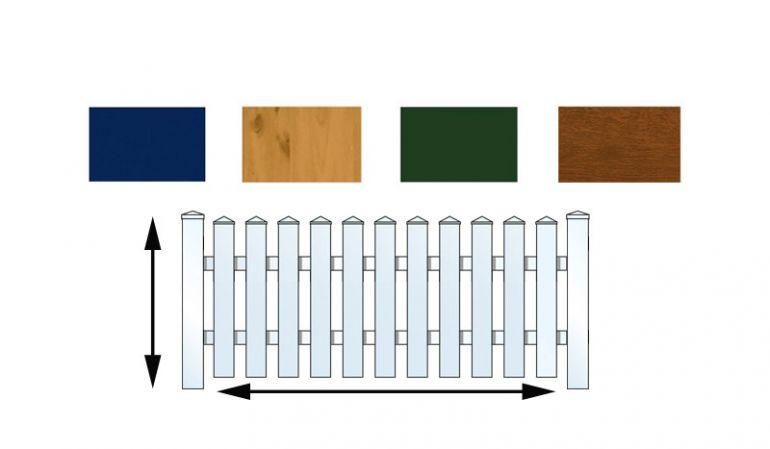 Zaun nach Maß mit unserem Konfigurator! Erstellen Sie sich Ihren individuellen Kunststoffzaun.