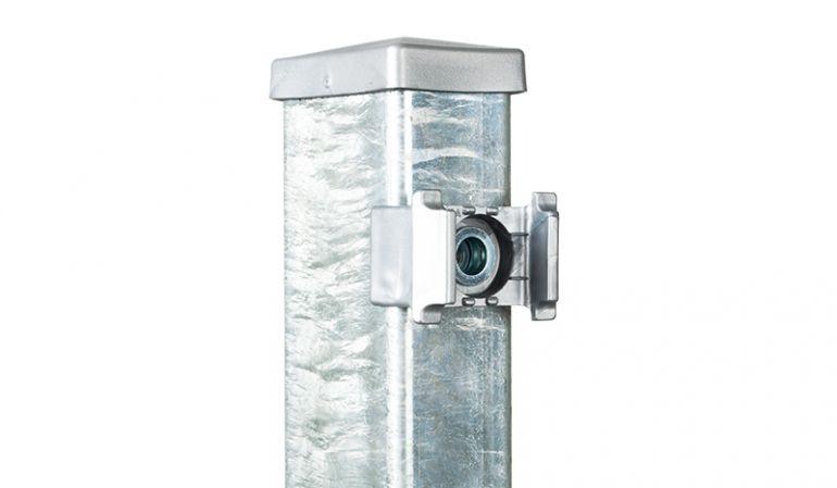 Metall Zaunpfosten 60 x 40 mm, Wandstärke 2 mm in feuerverzinkt