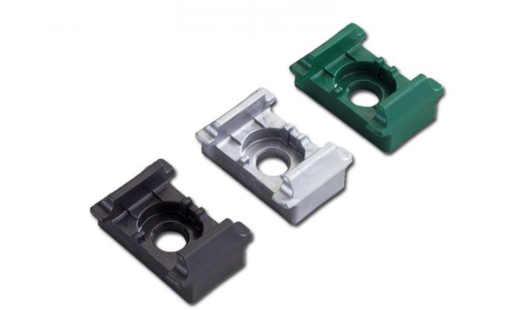 Pfostenklammer zur Montage von Doppelstabgittermatten an Metallpfosten