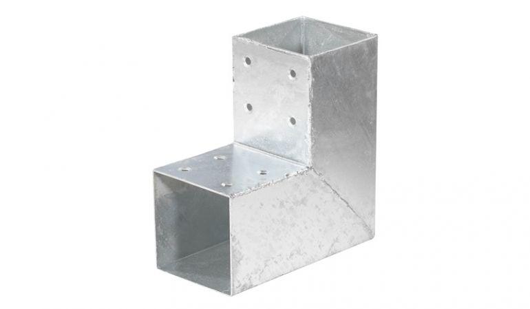 Pfostenverbinder für 9 x 9cm Pfosten, 20 x 20 x 9 cm für Ecken aus 2 mm verzinktem Stahl