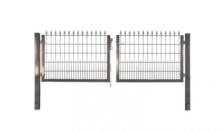 Schmuckzaun-Gartentor aus verzinktem Stahl und optionaler Pulverbeschichtung