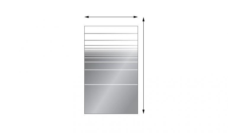 Sichtschutzelemente Glas San Juan aus 8 mm ESG in individuellen Maßen, Streifendekor, rechteckig