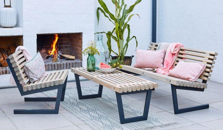 Die rohe Siesta Garnitur ist für den Garten und exklusive Innenraumlösungen geeignet