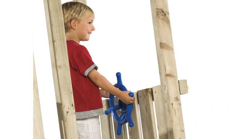 Das Spielzeug Stuerrad Kinder aus Kunststoff ist in verschiedenen Farben erhältlich.