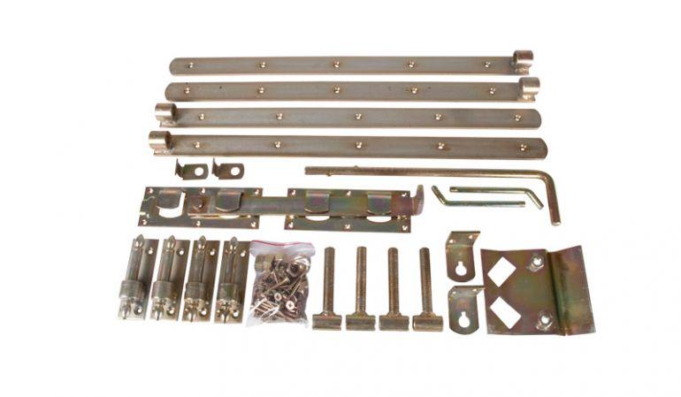 Torbänder Doppeltor Premium mit Zierscharnieren, Stahl, verzinkt
