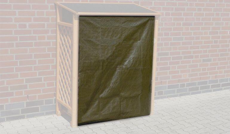 Schützen Sie Ihr Brennholz vor Nässe mit dem passenden Wetterschutz für das Kaminholzregal Sassnitz