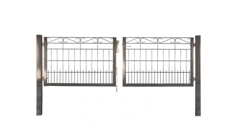 Zaunmatten-Gartentor mit einer lichten Breite von 300 cm im Schmuck-Design bestellen