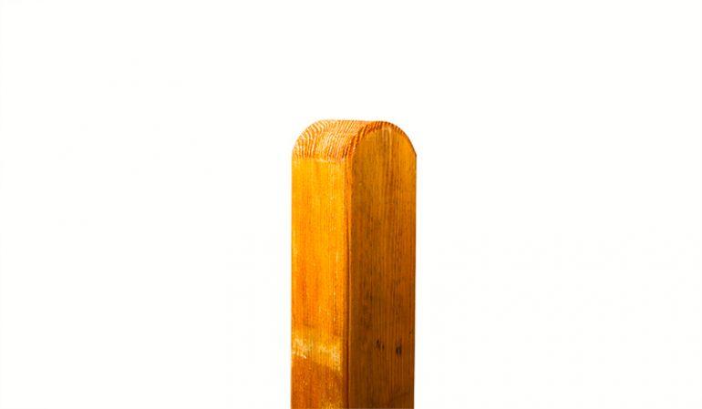 Zaunpfahl passend zum Zaun Rostock in den Maßen 9 x 9 x 210cm aus lasierter Kiefer