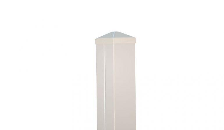 Zaunpfosten Aluminium in verschiedenen Größen erhältlich. 7 x 7 x 70/90/110/130/160/190 cm